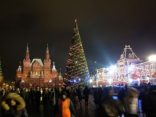 Las Fiestas en Rusia Plaza-roja