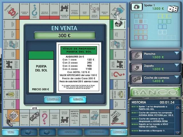 Monopolio Portable (con crack) EjemploPantallaJuego