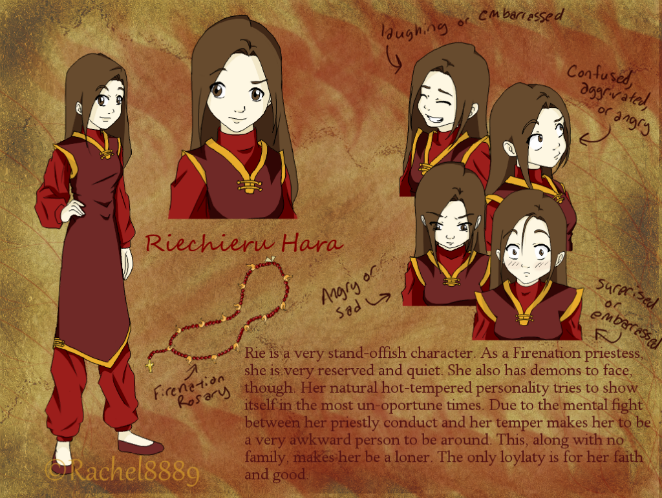 Riechieru Hara(formerly known as Rachel Gavial) Riechierucharactersheet-1