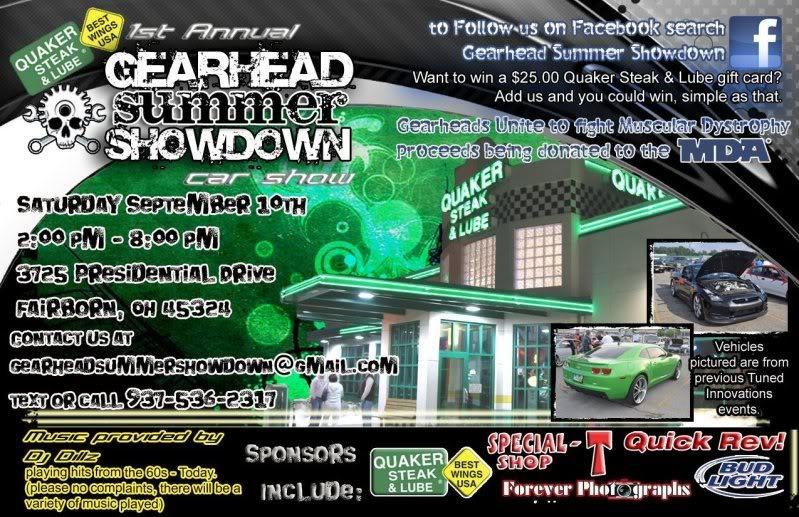 Gearhead Summer Showdown/Dayton, OH  GearheadSummerShowdownFlyerFront