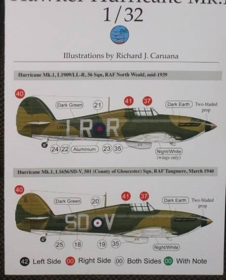 "Hawker Hurricane Mk.I ""Rag-Wing"" 1/32, PCM 002"