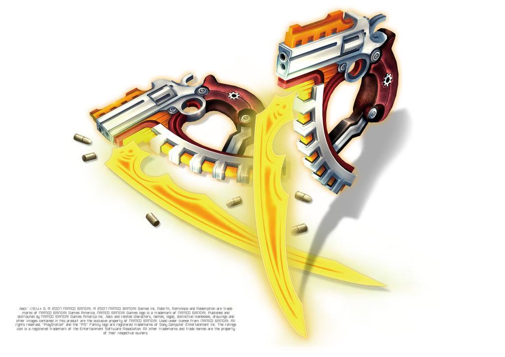 Heruken's twin blade guns Haseo-Xth-Form-Weapons