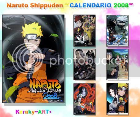 Naruto Shippuden [Calendario 2008] Calenadrionaruto2008