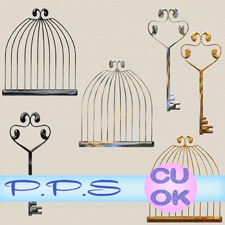 Cages and Keys (Pink's Poetic Scraps) Cagepreview