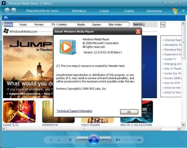 Windows Media Player 12 ( Beta ) 98eclw