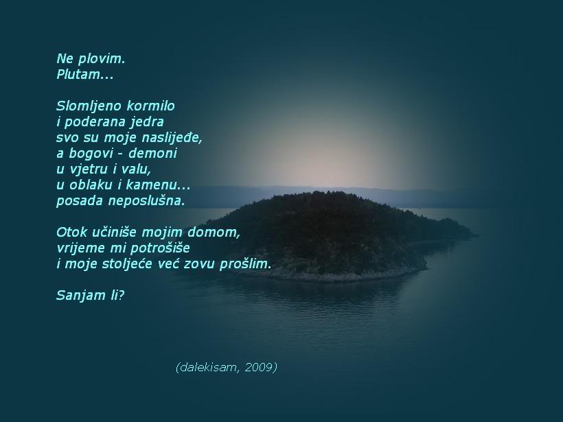 Ljubavna poezija na slici Dis-otok