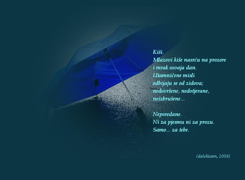 Ljubavna poezija na slici Song-rain
