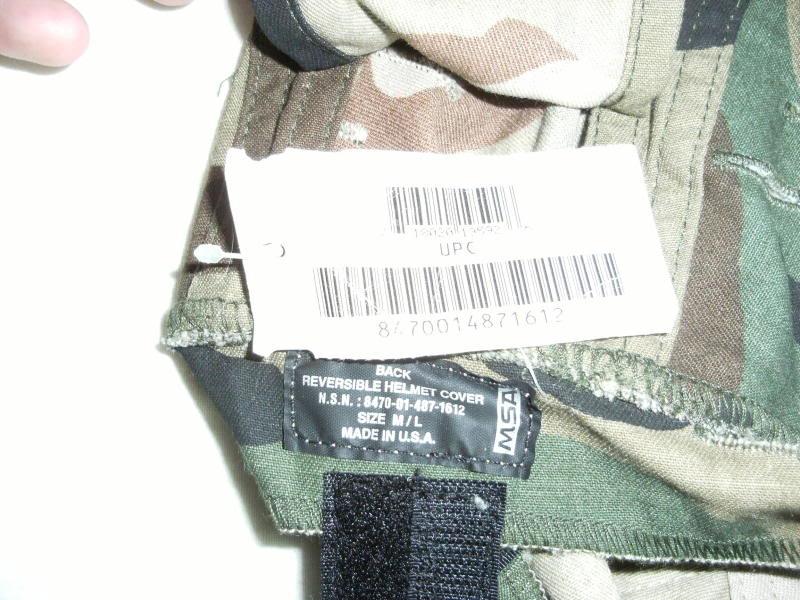 MSA Reversible Helmet Cover-Woodland/Desert-Unissued. Cac38830