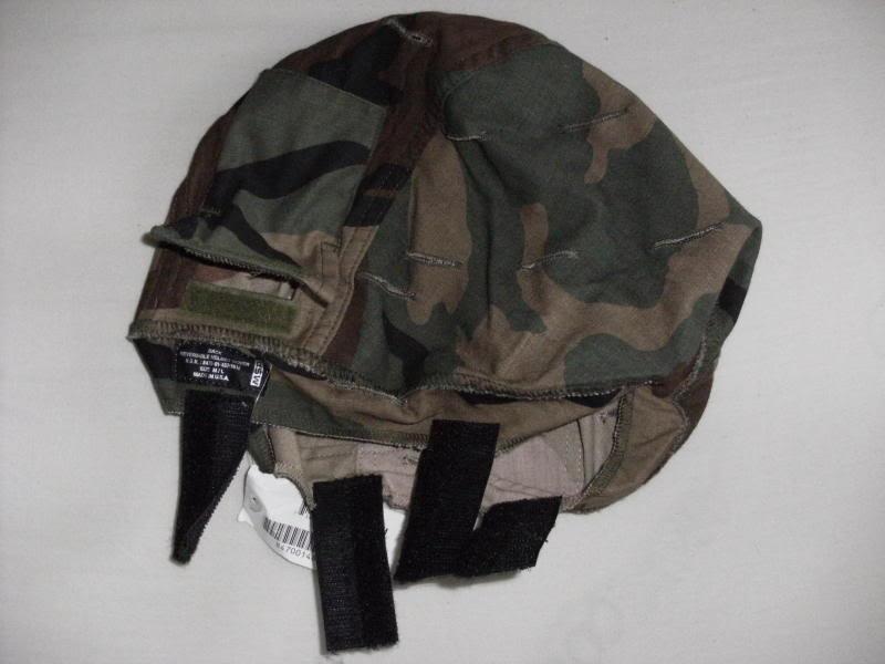 MSA Reversible Helmet Cover-Woodland/Desert-Unissued. Dfc75225