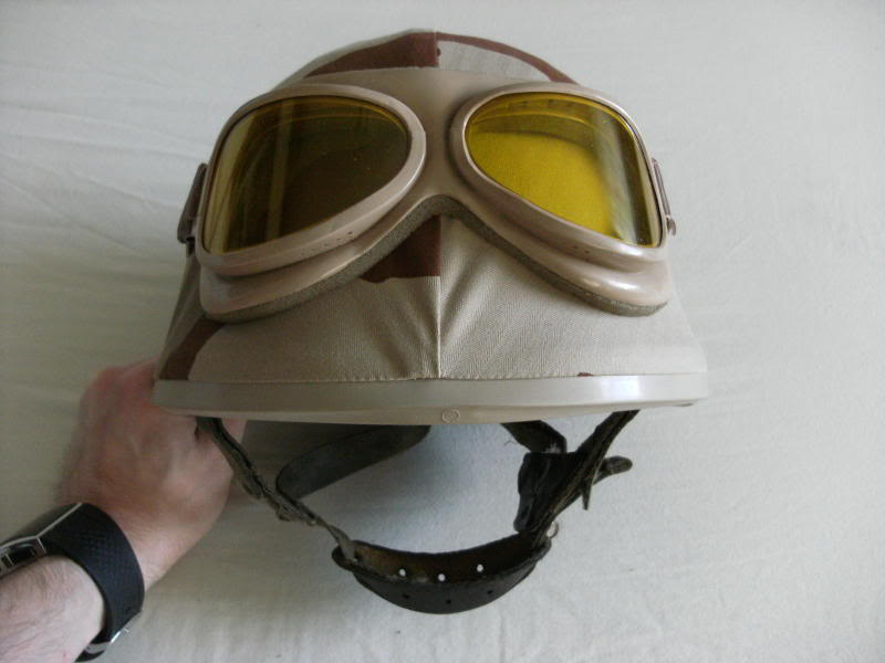 French F1 Helmet-1st Model with Desert Cover+Goggles. Fcfd418b