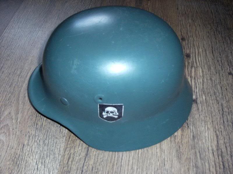 German Police M40 Type Helmet with Unknown Decal.  DSCF0009_zps8dc6b114