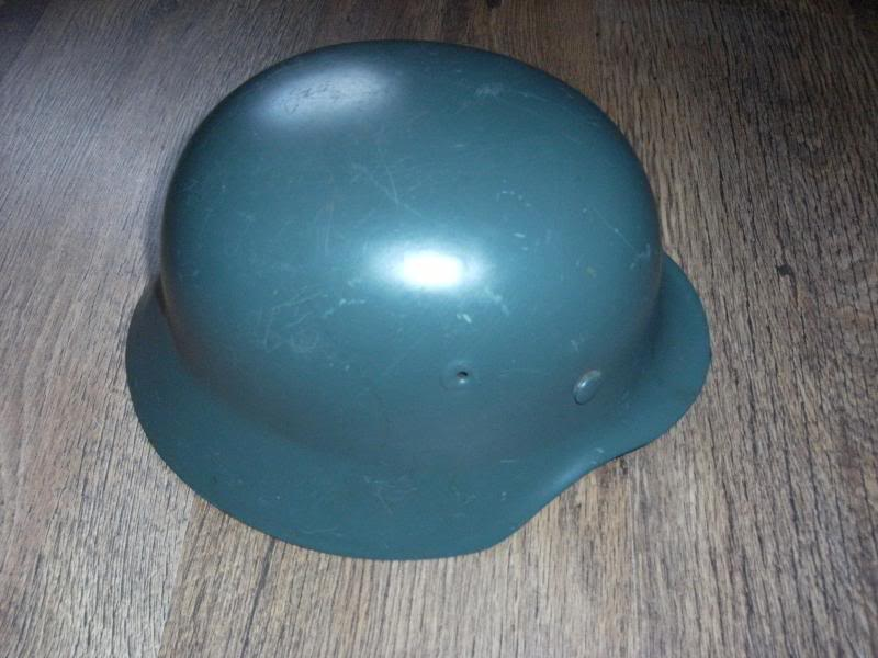 German Police M40 Type Helmet with Unknown Decal.  DSCF0010_zps862a74aa