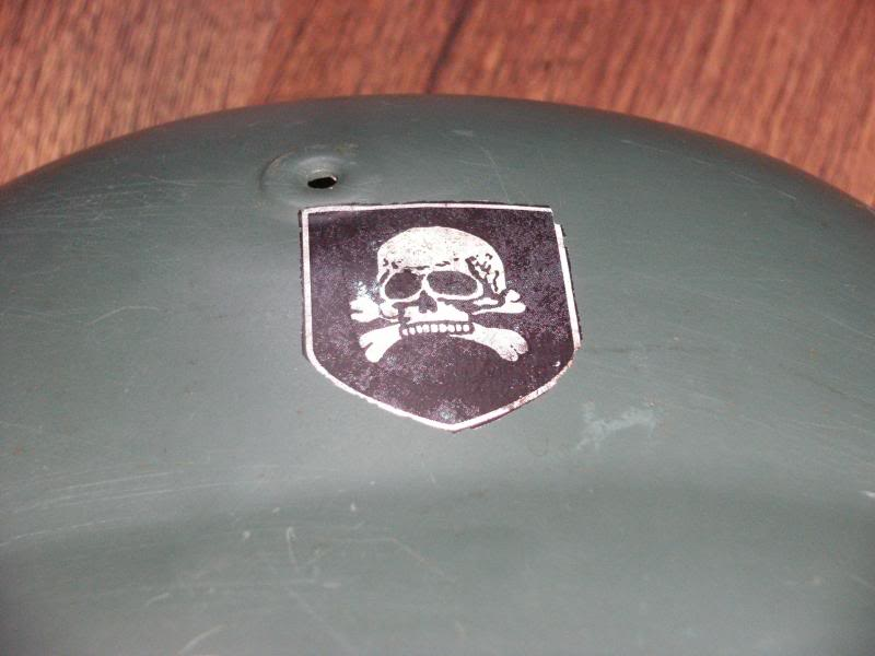 German Police M40 Type Helmet with Unknown Decal.  DSCF0014_zps61f723f6