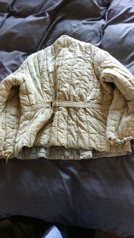Telogreika padded winter jacket used maybe by a German soldier or POW? Telogreika%20padded%20winter%20jacket%20used%20maybe%20by%20a%20German%20sold%20007_zpslxxwmrsz