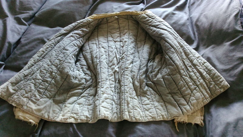 Telogreika padded winter jacket used maybe by a German soldier or POW? Telogreika%20padded%20winter%20jacket%20used%20maybe%20by%20a%20German%20sold%20008_zps29fv04ju