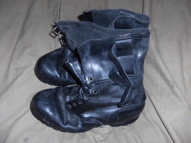 Double Buckle Black Leather Boots. DSCF0002_zpsd331d753