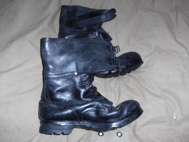 Double Buckle Black Leather Boots. DSCF0003_zps6d730ca3