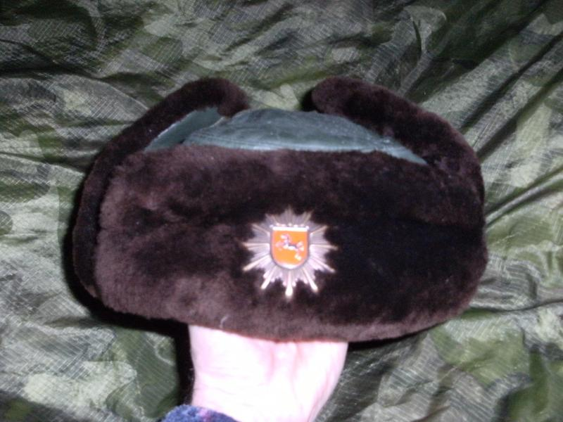 Police Riot Helmet,Leather/Fur Green Uschanka and Womens Hat? all with red shield and horse badge. DSCF0006_zpsc25d71ce
