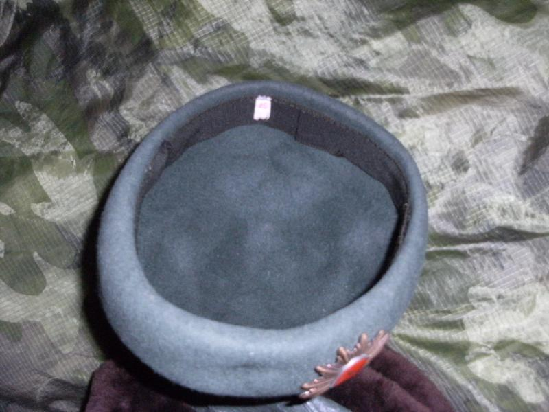 Police Riot Helmet,Leather/Fur Green Uschanka and Womens Hat? all with red shield and horse badge. DSCF0012_zps2d09727a