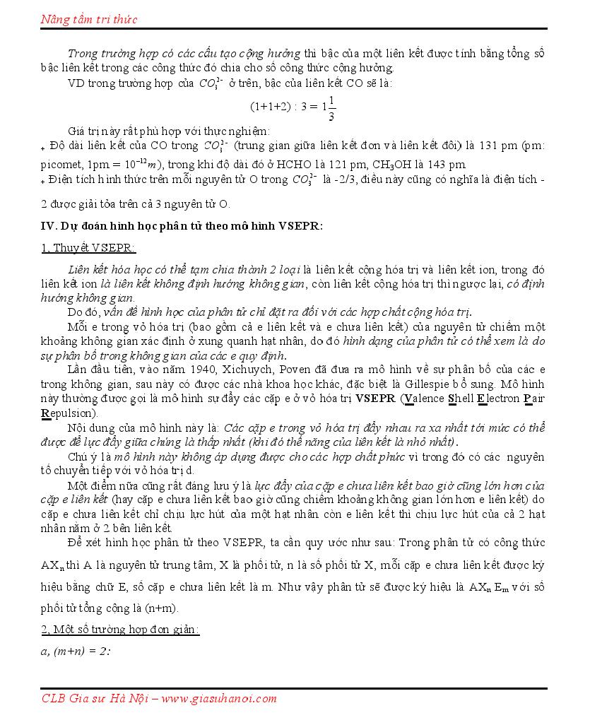 Quy tắc viết công thức Cấu tạo theo Lewis, CTCT + Dạng lai hóa + Hình học phân tử Lewis10005