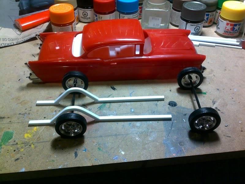 '57 Chevy Bel Air ... Custom ;-) Debutchassis-1