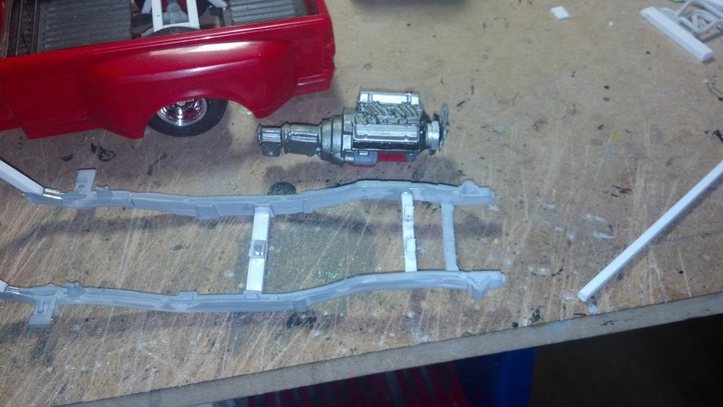 GMC Pickup ( à ma sauce ) Snow plow kit Supportmoteurettransmission2