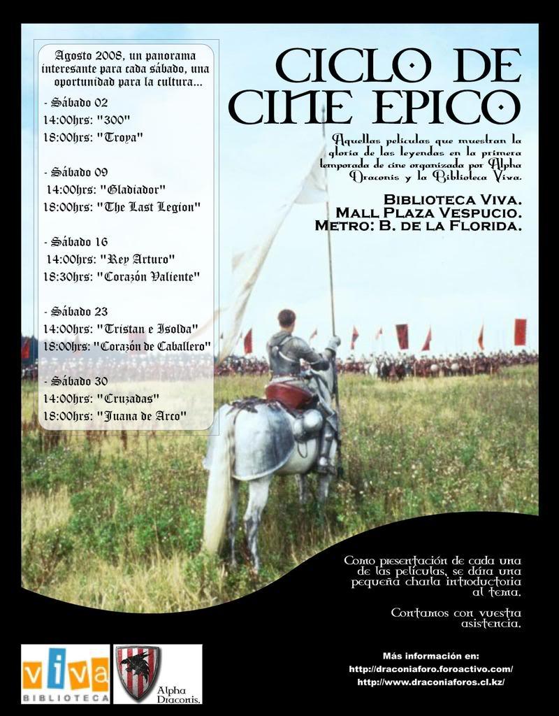 """""""Ciclo de Cine Epico"""" AficheCiclo"""