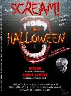 """Confirmação da Festa """"Scream! This is Halloween"""" Final"""