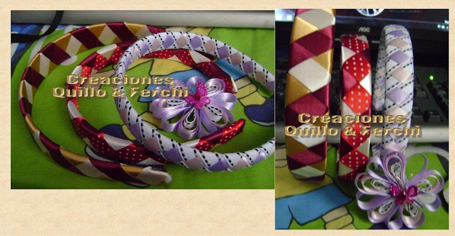 Diademas con tejido de listón Diademas
