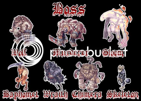 {. Les monstres et le combat BossMobs