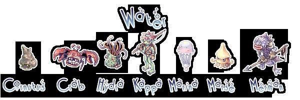 {. Les monstres et le combat WaterMobs