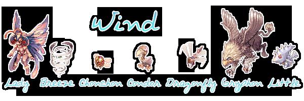 {. Les monstres et le combat WindMobs