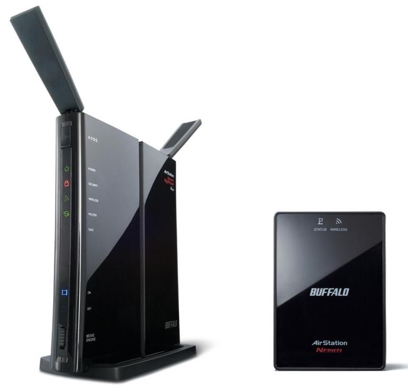 Wifi, box HDD Buffalo các loại WZR-HP-G300NH2
