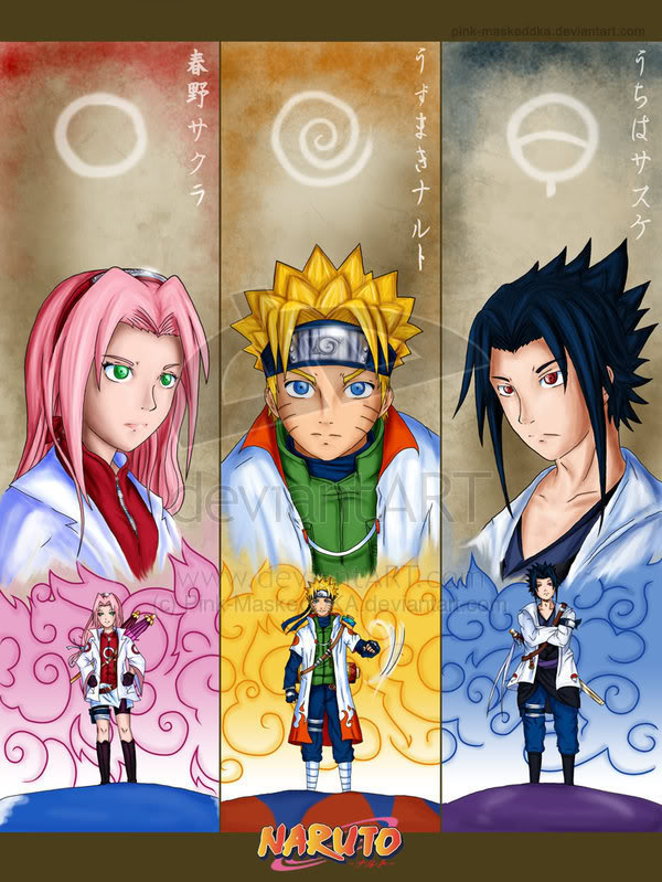 hokage taking 4 students Sakura___Naruto___Sasuke_by_Pink_Ma
