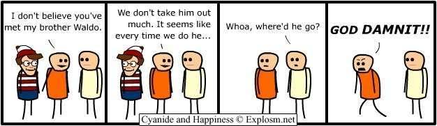Explosm.net FUNNY SHIT Waldo