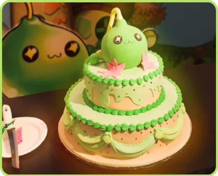 Random cute stuff MapleStoryGreenSlimeCake