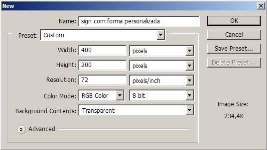 [Tutorial] - Sign com forma personalizada 1