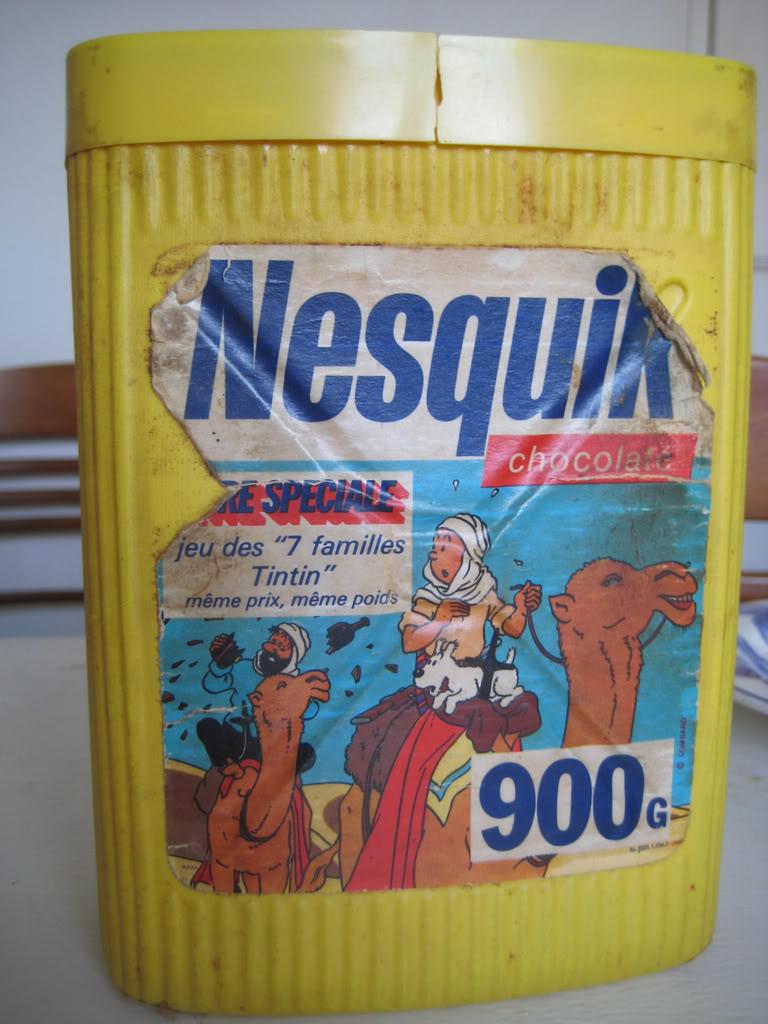 Les  EMBALLAGES ALIMENTAIRES vintage 70's/80's/début 90's Nesquik1