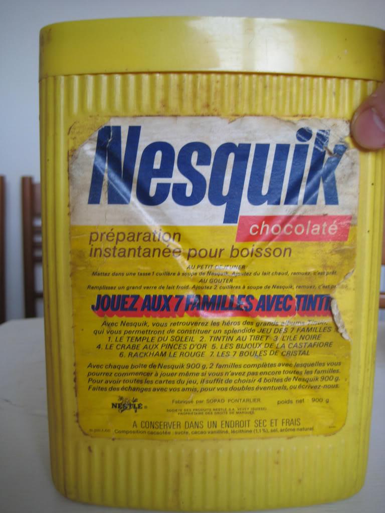 Les  EMBALLAGES ALIMENTAIRES vintage 70's/80's/début 90's Nesquik2