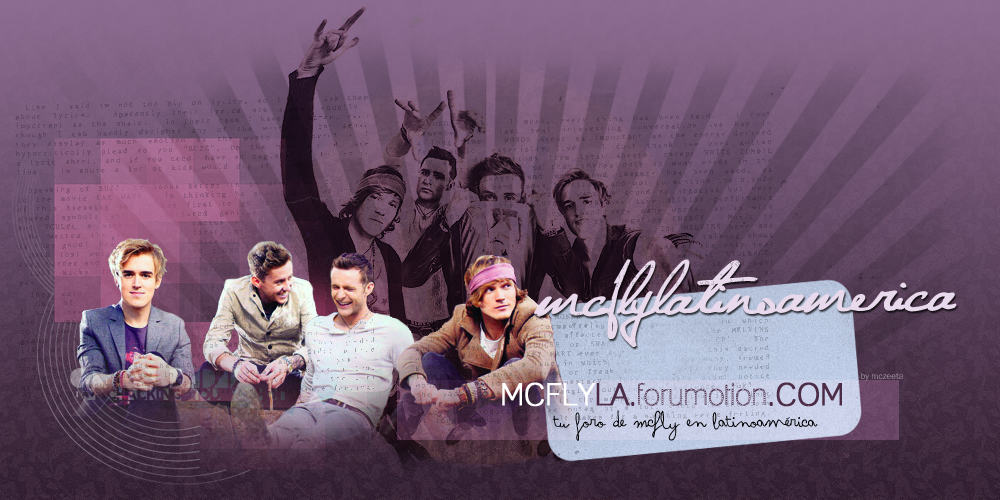 Myspace de McFly lleno de coments Mexicanos! HeaderforoII