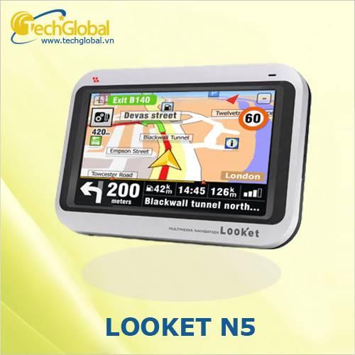 Thiết bị định vị GPS dẫn đường, lắp định vị dẫn đường cho ô tô Looket-n5