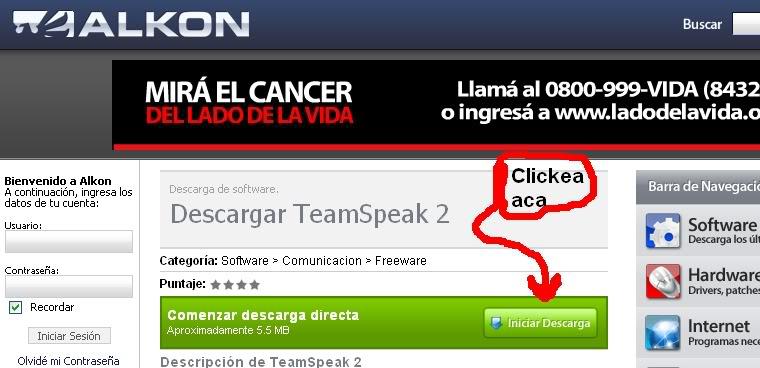 Guia rápida de como instalar y usar Team Speak (TS) 111111111111