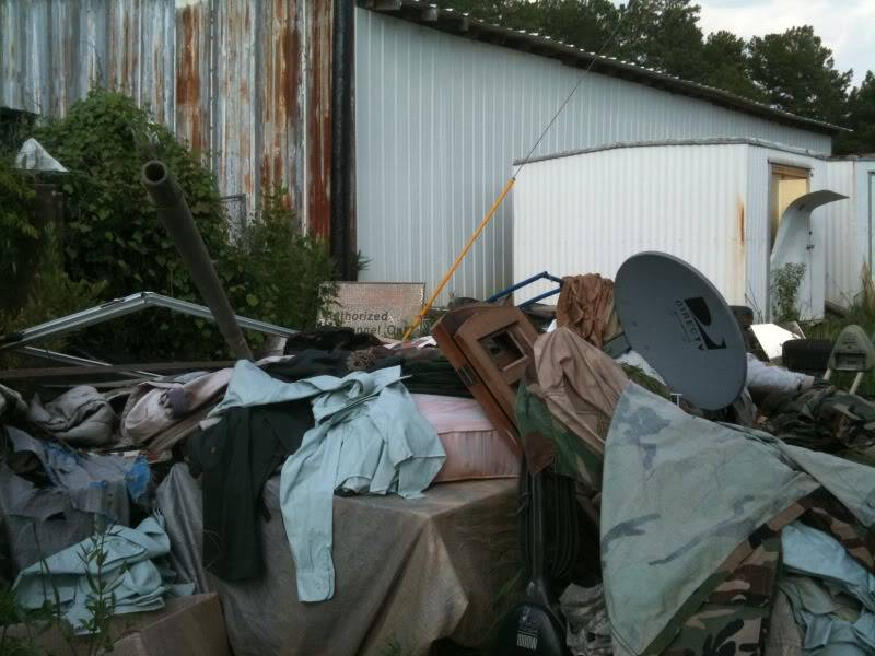 Want to cry? Look here at piles upon piles of modern surplus going to waste.. 22547c16