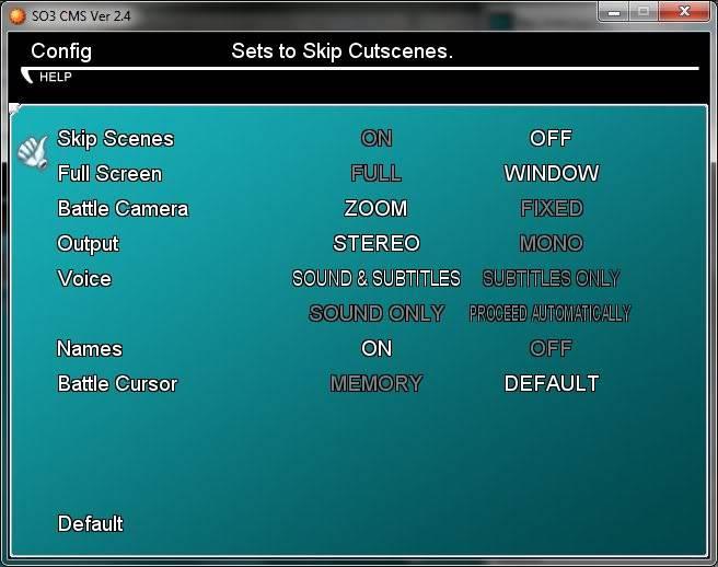 Star Ocean 3 Menu v 2.4 Config_Menu