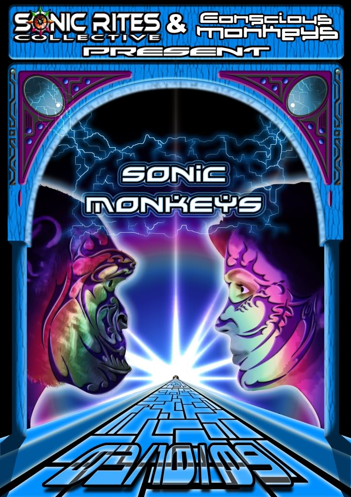 3rd Oct'09 Sonic Monkeys, Newcastle Uni..Zetan Spore...... SonicMonkeysflyerfront