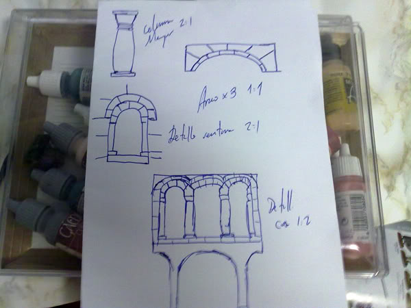 Arquitectura de Gondor Bocetos1