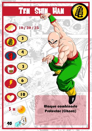 Dragon Ball Melee, juego de miniaturas TenShiHan-chico