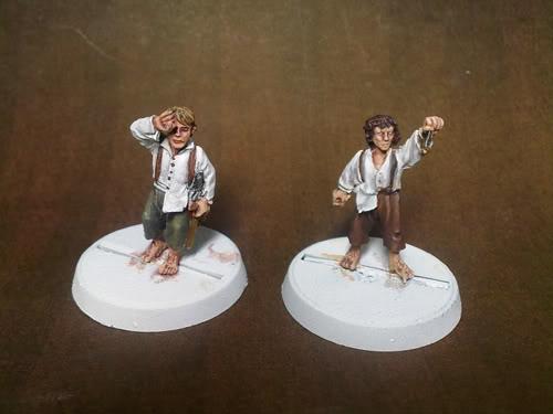 Minis para el Games Day Hobbits