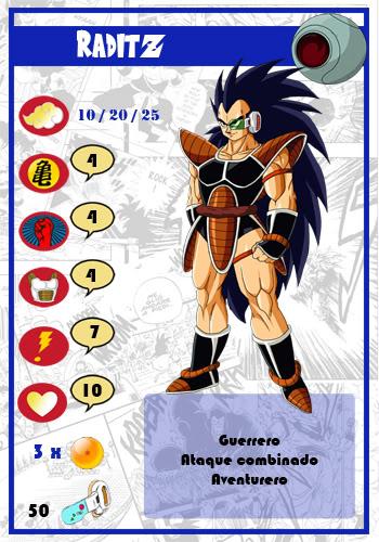 Dragon Ball Melee, juego de miniaturas Raditz-chico