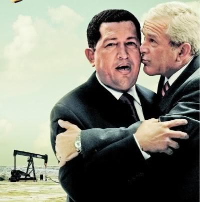 La mésaventure de Bush  en Irak... Chavez_bush